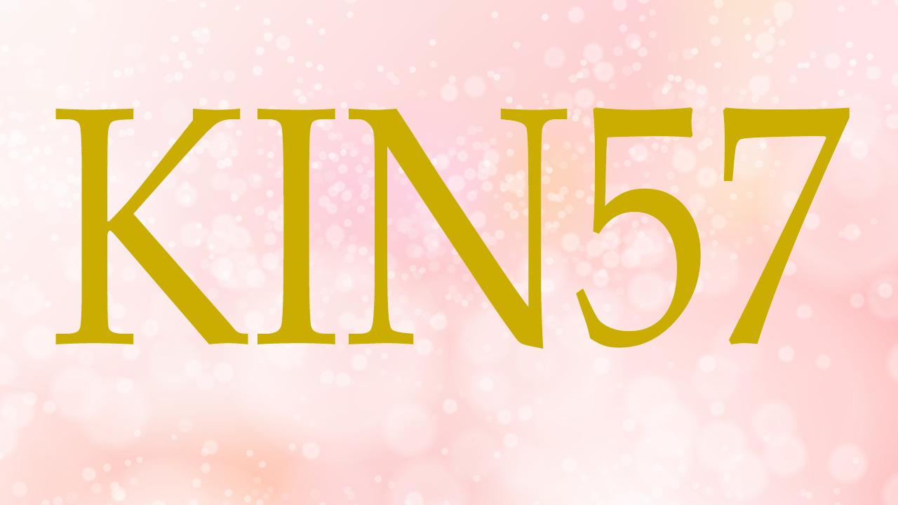 KIN57のエネルギー・有名人|赤い地球×赤い空歩く人×音5