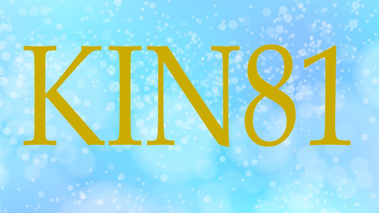 KIN81のエネルギー・有名人|赤い龍×青い嵐×音3